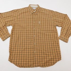 Columbia XL Orange Button Down Shirt  Cotton